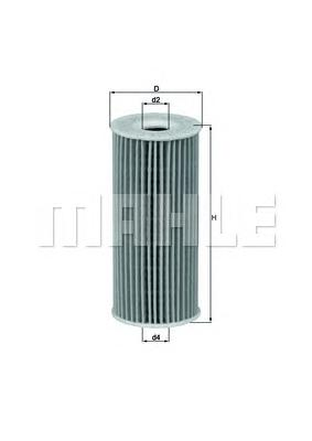OX201D Фильтр масляный MB A-CLASS 1.6-2.0 CDI