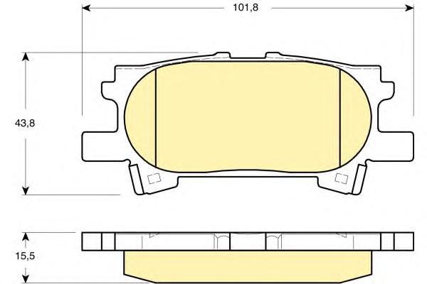 6133399 Колодки тормозные LEXUS RX300/RX330/RX350 0308/RX400H 0509 задние