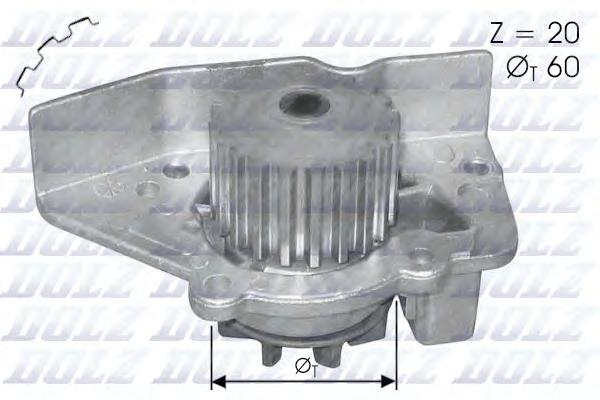 N406 Насос водяной PEUGEOT 306/406/SW 1.8i 16v 96-, CITROEN Xantia/Xsara 1.8i 95-