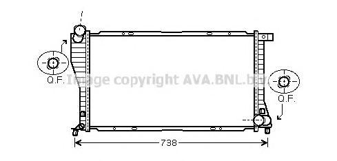 BWA2234 Радиатор BMW E39 2.0D-4.0D 98-05