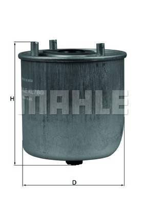 KL780 Фильтр топливный FORD/MAZDA/VOLVO DIESEL 06-
