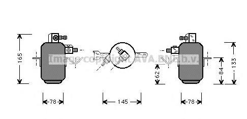 MSD003 Осушитель кондиционера MB W124 2.0-5.0/2.2D-3.0D 85-98
