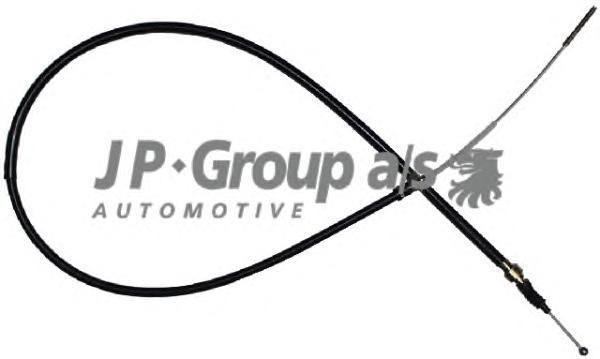 1170301300 Трос ручного тормоза / VW Golf II, Jetta II [диск.торм.] (ABS)  89-92