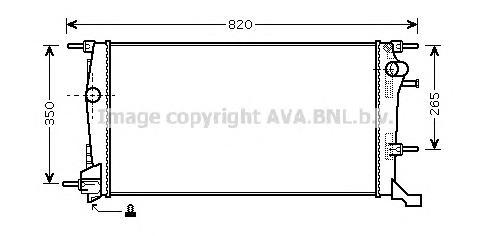 RTA2409 Радиатор RENAULT MEGANE/FLUENCE 2.0/1.9D/2.0D 08-