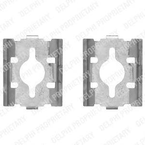 LX0328 Пружины прижимные дисковых колодок к-т.FIAT DUCATO 02- зад.