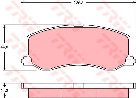 GDB3237 Колодки тормозные SUZUKI SWIFT 89-01 передние