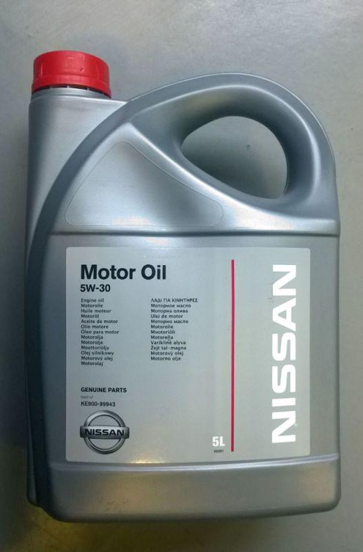 KE90099943 Масло моторное 5w30 NISSAN 5л синтетика