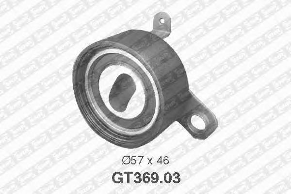GT36903 Деталь GT369.03_pолик натяжной pемня ГPМ