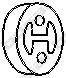 255383 Подвеска глушителя HONDA ACCORD