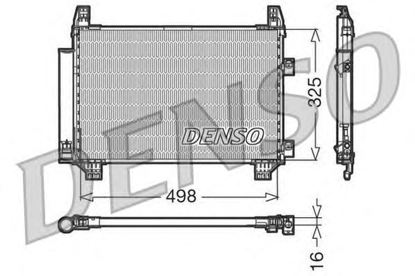 DCN50001 Конденсер TOYOTA YARIS 1.0 05-