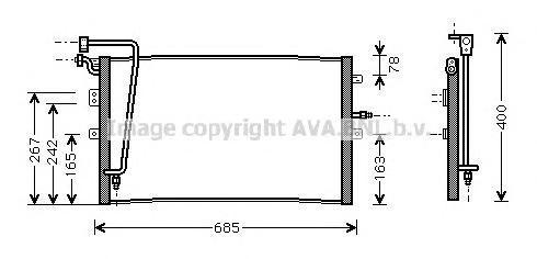 SB5039 Радиатор кондиционера SAAB: 9-5 (YS3E) 2.0 t/2.3 Turbo/2.3 t/3.0 TiD/3.0 V6t 97 - , 9-5 универсал (YS3E) 2.0 t/2.3 Turbo/