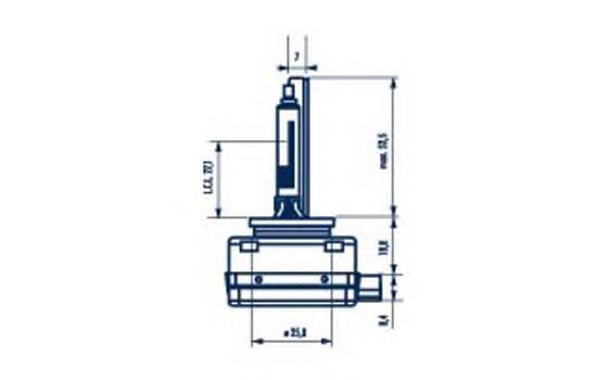 84011 Лампа D1R 85V 35W Xenstart