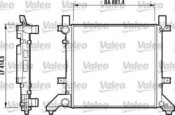 731605 Радиатор VOLKSWAGEN: LT II (96&gt