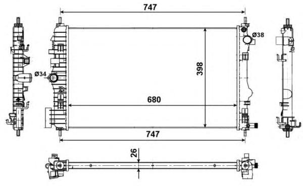 53774 Радиатор OP Insignia, SAAB 9-5