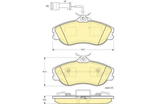 6108161 Колодки тормозные AUDI 80/90/100/200 84-96 передние с датчиком