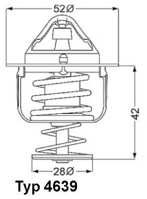 463982D Термостат MAZDA 2 1.3 07- / 3 1.4-1.6 03- / 323 2.0D 01-04 / 6 2.0D 02-
