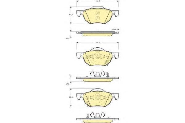 6133559 Колодки тормозные HONDA ACCORD 2.0/2.2/2.4 03 передние