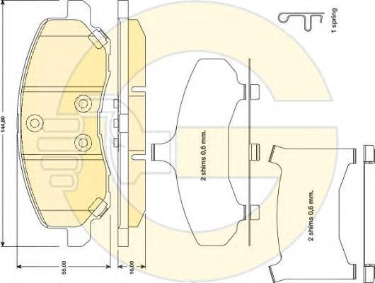 6141429 Колодки тормозные MITSUBISHI ASX/LANCER/OUTLANDER/DODGE CALIBER передние