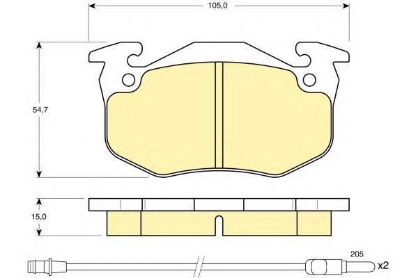 6103283 Колодки тормозные RENAULT TWINGO 93- передние