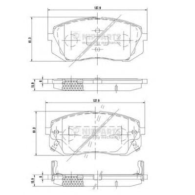 N3600330 Колодки тормозные HYUNDAI ix35 10-/KIA SPORTAGE 10-/CARENS 02- передние