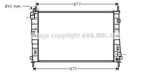 FDA2335 Радиатор FORD MONDEO 1.6/1.8/2.0 01-