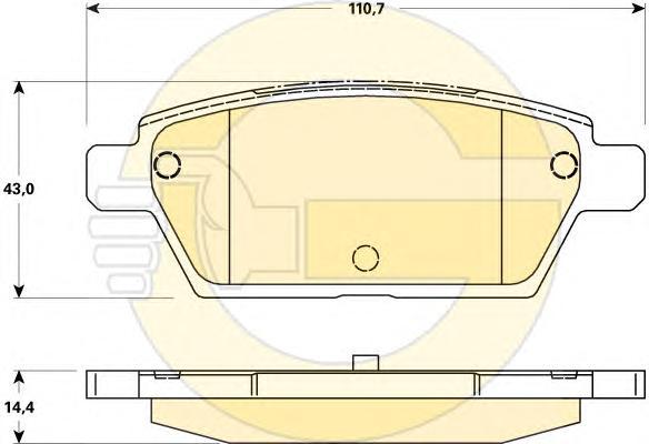 6135179 Колодки тормозные MAZDA 6 05- задние