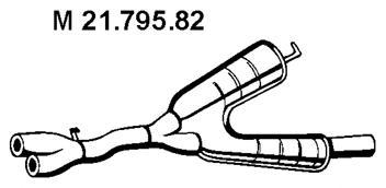 2179582 Резонатор E39 528i TOURING 2.8