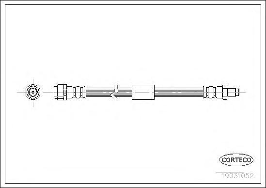 19031052 Шланг тормозной MERCEDES-BENZ: M-CLASS ML 230/ML 270 CDI/ML 320/ML 350/ML 350/ML 400 CDI/ML 430/ML 500/ML 55 AMG 98-05