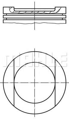 0349402 Поршнек-т VAG 2.8 D=83.01 AAH, AEJ, AFC