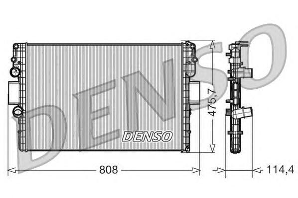 DRM12010 Радиатор системы охлаждения CHEVROLET: CRUZE 1.6 09 -  FORD: SIERRA (GBG, GB4) 2.0 i 87 - 93 , SIERRA Наклонная задняя