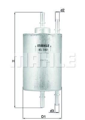 KL592 Фильтр топливный AUDI A4/SEAT EXEO 1.8 T 00-