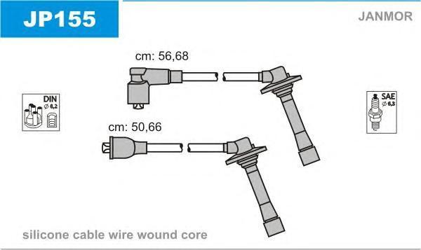 JP155 Комплект проводов зажигания FORD USA: PROBE II 93-98, MAZDA: 626 IV 91-97, 626 IV Hatchback 91-97, MX-6 91-