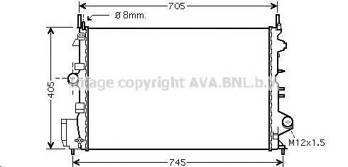OLA2462 Радиатор OPEL VECTRA C 1.8 05-