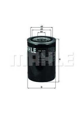 OC526 Фильтр масляный KIA SORENTO 06-/HYUNDAI PORTER II 04- 2.5/2.9CRDi