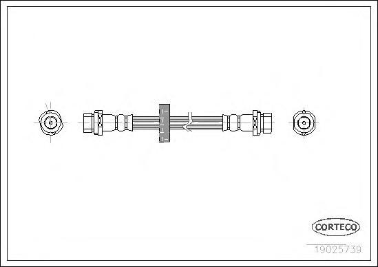 19025739 Шланг тормозной Re 195мм FO Focus 98-04