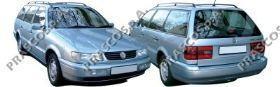 VW0511011 Бампер передний грунтованный (верх черный) / VW Passat IV 11/93~