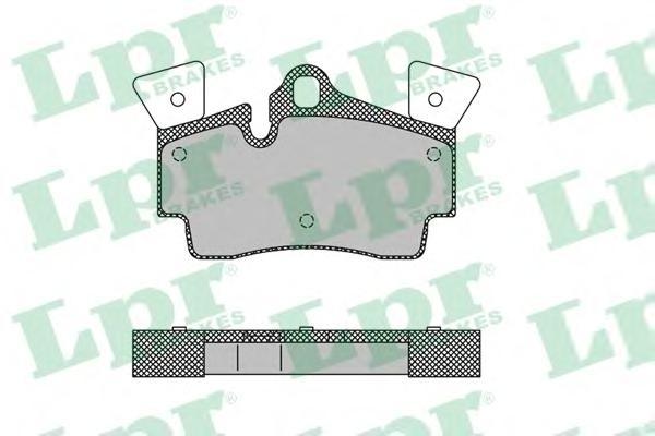 05P1482 Колодки тормозные AUDI Q7 06-/PORSCHE CAYENNE 02- задние