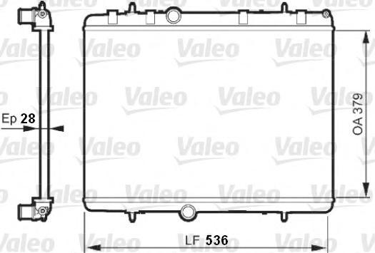 735608 Радиатор системы охлаждения CITROEN: C4 (LC) 1.6 HDI/2.0 HDI 04-, C4 КУПЕ (LA) 1.6 HDI/2.0 HDI 04-, C5 (RC) 2.0 16V (RCRF