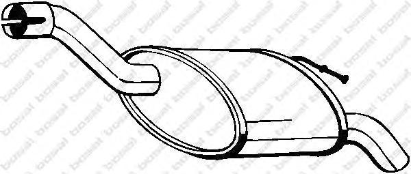 154293 Глушитель FORD FOCUS 1.8TD 98-04 (HATCH)