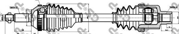 218006 Привод в сборе FORD MONDEO I-II 1.6-2.0 93-00 прав. +ABS