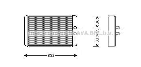 FTA6265 Радиатор отопителя CITROEN JUMPER/FIAT DUCATO