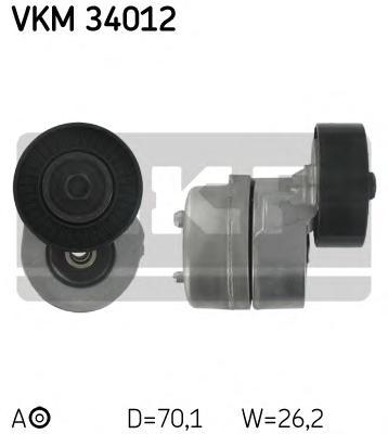VKM34012 Ролик натяжной поликлинового ремня Ford Galaxy 2.0i-2.3i 16V 95
