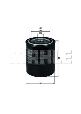 OC1091 Фильтр масляный NISSAN ALMERA/PRIMERA/SUNNY/TERRANO 1.3-3.0 -02