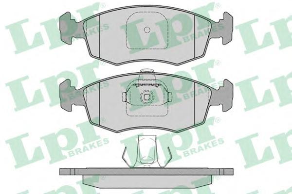 05P785 Колодки тормозные FIAT DOBLO/PALIO/PUNTO/STRADA 1.2-1.9 99- передние
