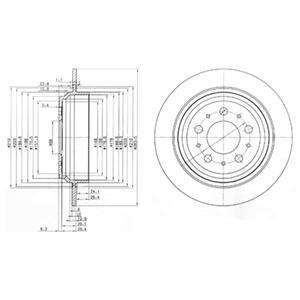BG3419 Тормозной диск 2шт в упаковке