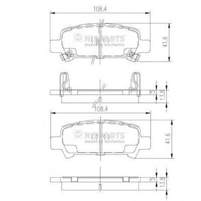 J3617002 Колодки тормозные SUBARU FORESTER 97-/IMPREZA 98-/LEGACY 98-/OUTBACK 00- задние