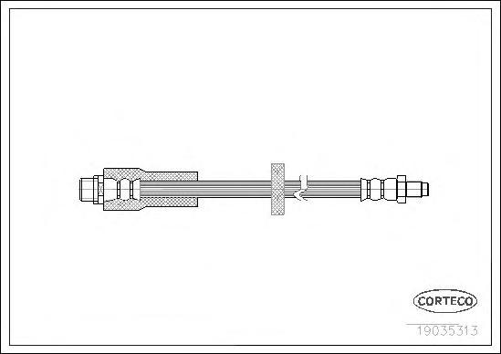 19035313 Шланг тормоз. Re 345мм VAG A6 (C6) Avant 05-