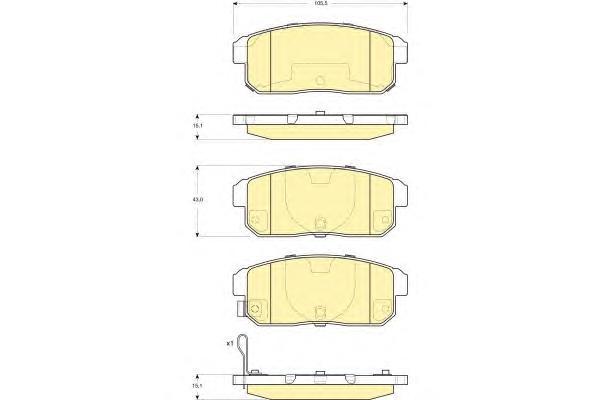 6133579 Колодки тормозные MAZDA RX8 2.6 03-/SUZUKI IGNIS 1.3/1.5 00- задние