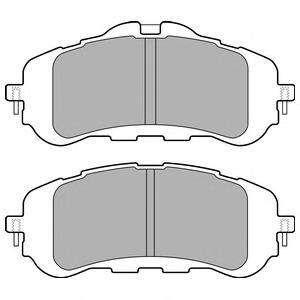 LP2506 Колодки тормозные