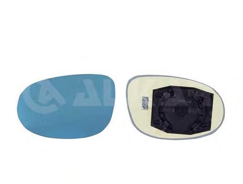 6433554 Стекло зеркала FIAT BRAVO 07- левое с обогр. син.